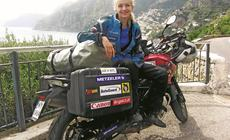 Anna Jackowska podczas motocyklowego wyjazdu do Włoch