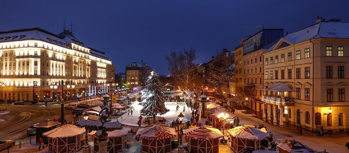 bożonarodzeniowy jarmark w Bratysławie