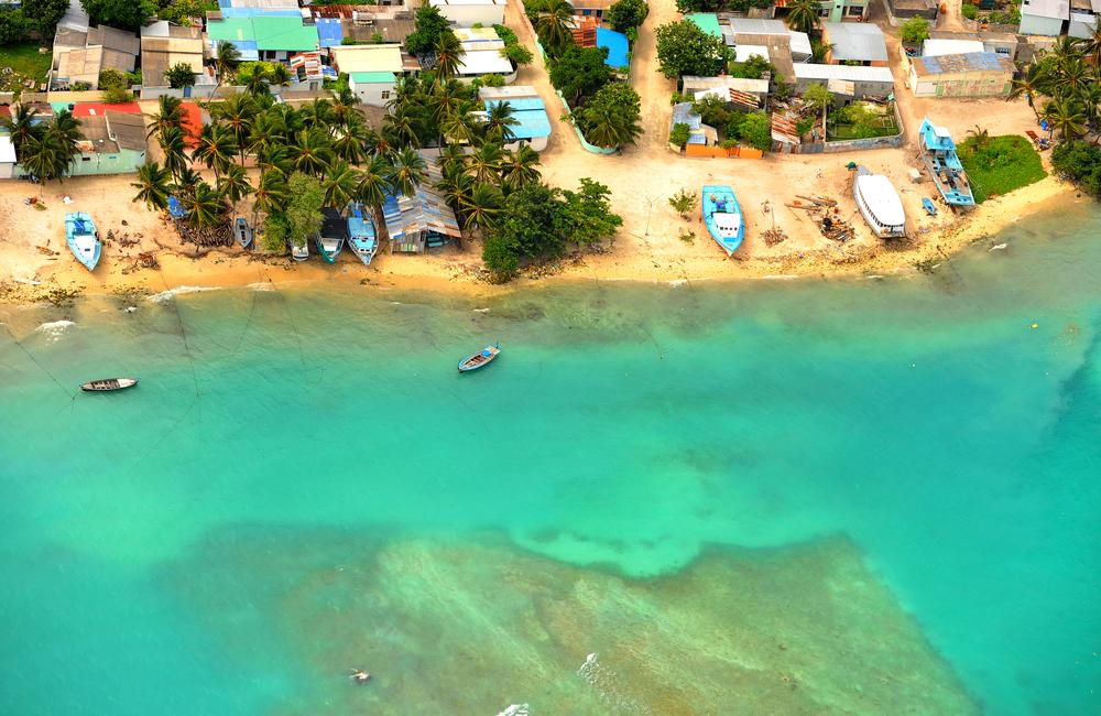 Malediwy - wioska rybacka