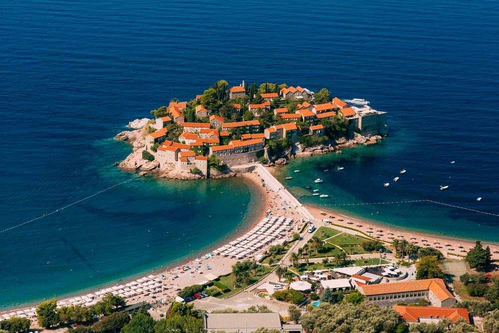Wyspa Święty Stefan - jedna z ikon Bałkanów